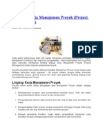 Lingkup Kerja Manajemen Proyek (Project Management), By Projectmedias.blogspot