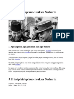 5 Prinsip Hidup Kunci Sukses Soeharto