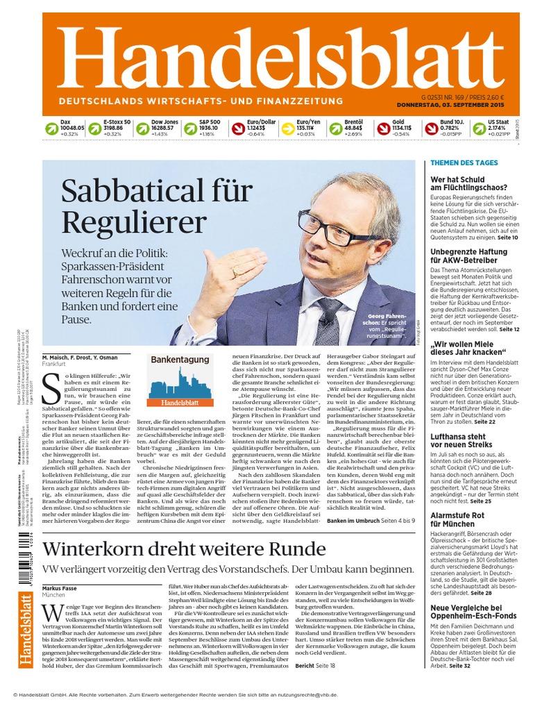 Handelsblatt 3 September 2015 Original