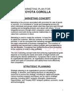 toyota marketing plan