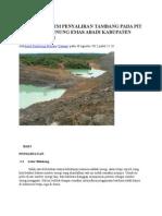 Analisis Sistem Penyaliran Tambang Pada Pit 2 Timur Pt (Ta)