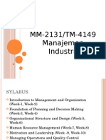 1. Industrial Management