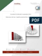 Circolare N.148 Del 9 Novembre 2011 - Distruzione Dei Beni. Aspetti Procedurali Da Non Dimenticare