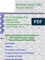Discontinuum Modeling of Underground Power House Excavation - A Case Study