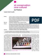 Sciences Et Conservation Du Patrimoine Culturel, Ou Les Leçons de Pasteur