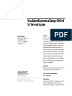 Simulation Experience Design Method for Serious Game
