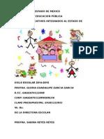 Plan Gloria Primmero 15-16