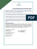 Aurobindo Pharma receives USFDA Approval for Telmisartan Tablets [Company Update]