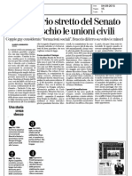Unioni civili. Rassegna stampa 04.09.15