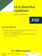 unit 9 - 9 3 ad - as   short-run equilibrium