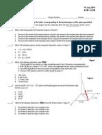 ES 11 First Long Exam