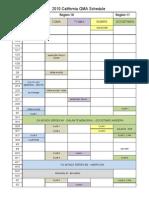 Regional Schedule 2010