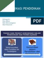 Teknik-Teknik Komunikasi Pendidikan
