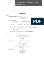 A Level - Maths - List of Formulae