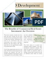 The Benefits of Commercial Real Estate Investment
