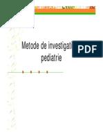 Curs Investigatii in Pediatrie