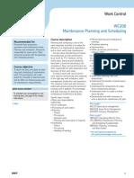 Maintenance Planning Scheduling