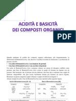 Acidità e Basicità Dei Composti Organici
