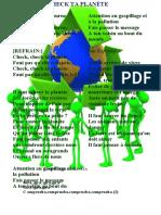 letra de salvar el planeta en frances y en español