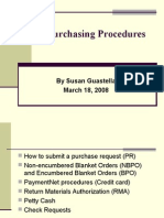 Purchase Order Procedures