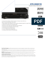 Sony Receiver STR DE897 Specs