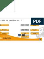 Lista WEB de Precios No 7 CABLECOLelectroriente