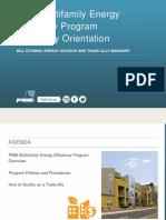 PNM Multifamily Energy Efficiency Program Trade Ally Orientation_08!05!2015
