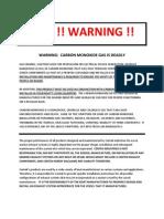 CO Standard Warning Insert PDF