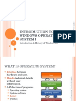 Introduction to Windows Operating System I for Student