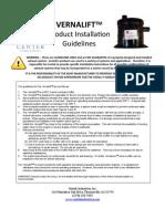 Vernalift Install Guidelines Jan09 PDF