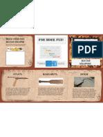 Mayan Brochure - Weapons