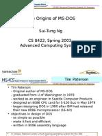 The Origins of MS-DOS