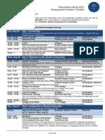 O Week UG Schedule 2015
