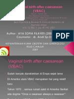 Presentasi Vaginal Birth After Caesarean (VBAC)