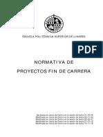 Normativa Proyectos Fin de Carrera a Fecha 15-11-2012