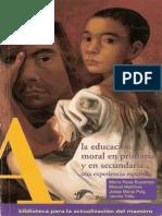 La Educación Moral en Primaria y en Secundaria