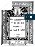 Non Piu Andrai aria for bass from Mozart's, The Marriage of Figaro