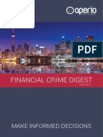 Welcome to the August 2015 edition of the Financial Crime Digest