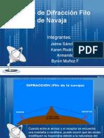 Modelo de Difracción Filo de Navaja