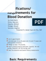 Donor Requirements