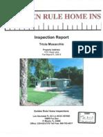 Golden Rule Home Inspection of Aqua Lane home