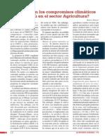 ¿Cuáles son los compromisos climáticos del Perú en el sector Agricultura?