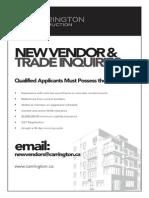 New Vendor Info Carrington