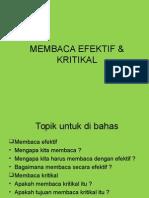 MEMBACA EFEKTIF & KRITIKAL