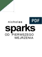 Sparks Nicholas - Od Pierwszego Wejrzenia