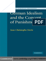 German Idealism and the Concept of Punishment Modern European Philosophy