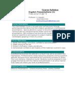 Business Presentations - Syllabus