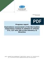 EIOPA BoS 15 176 Equivalence Progress Report Bermuda