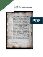 Mateo 28.19 Trinidad PDF