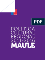 Estudios Regionales - Maule - Política Cultural 2011-2016